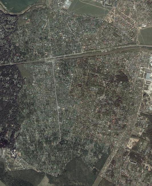 Загорянский на карте местности
